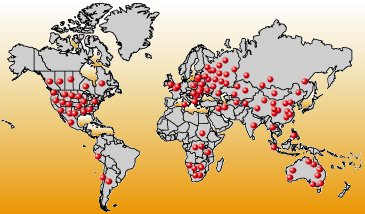 World map - Legal Clinics in the world